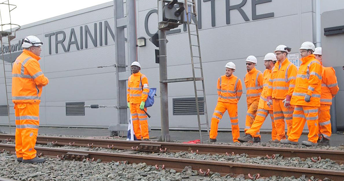training at the network rail training centre