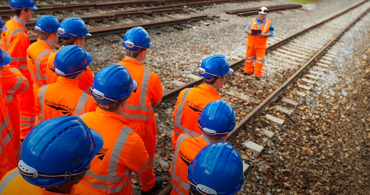Network Rail Training on live track